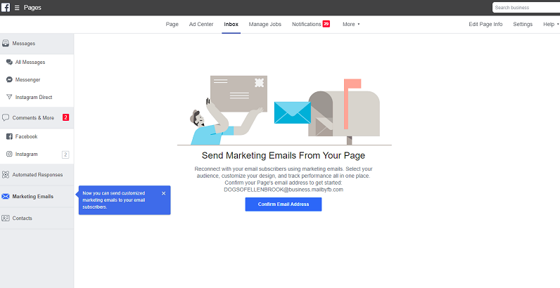 Noutăți Facebook Email Marketing